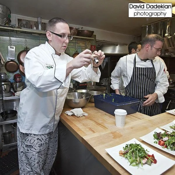 Second, Chef Michael Conetta also photographing the salad course