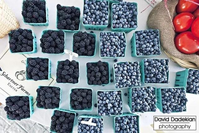 Schartner Farms's blueberries and blackberries