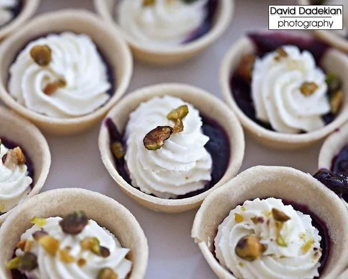 Castle Hill Inn & Resort's mini blueberry cream pies