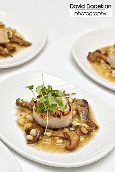 Bacaro's scallops with corn and chanterelles