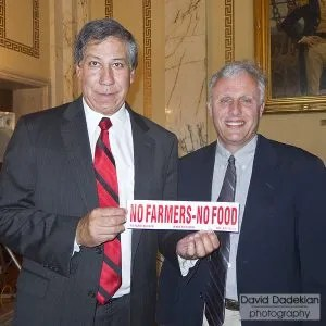 USDA Under Secretary for Marketing & Regulatory Programs Edward Avalos with RI DEM Chief of Agriculture Ken Ayars