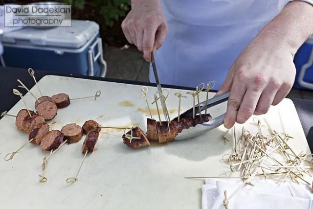 'Round the Bend Farm pork & wild foraged pine sausage