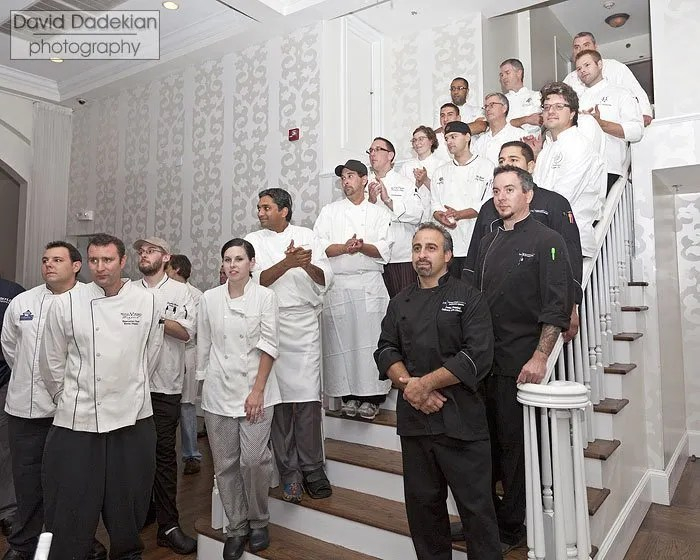 The chefs gathered at last year's Signature Chefs Auction