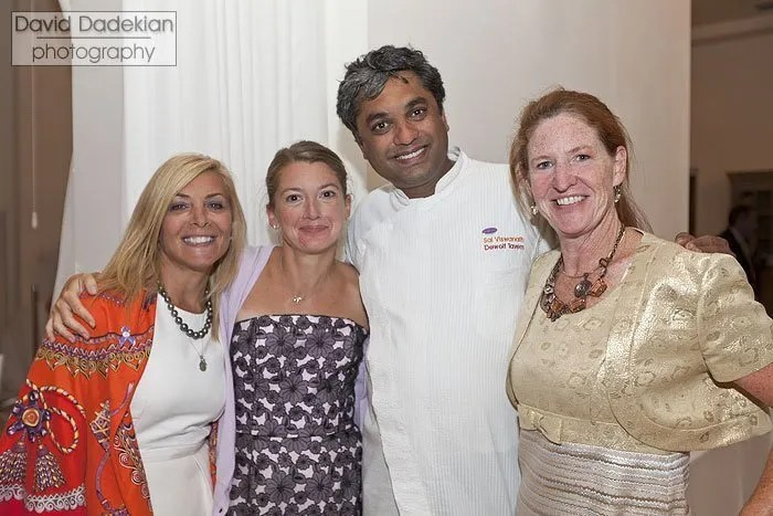 Co-chairs of the 2011 March of Dimes Signature Chefs event Annette Picerne of East Greenwich and Gracie's restaurant owner Ellen Gracyalny; DeWolf Tavern Chef Sai Viswanath; and Rhode Island March of Dimes Director Betsy Akin.