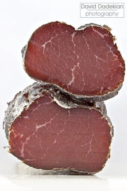 Cross-section of the bresaola