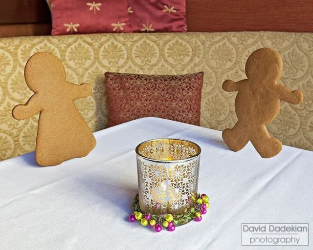 Gingerbread cookies, nicknamed Ginger and Fred, at Gracie's