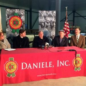 from left to right: Dale Venturini, Davide Dukcevich, Rep. Jim Langevin, Allan Tear, Jesse Rye