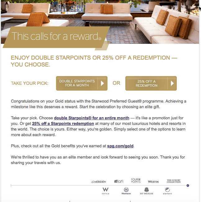 SPG Gold Preferred Guest Qualification