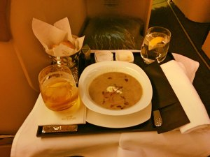 Etihad Business Class EY22 MAN AUH 777-300ER_19_mushroom soup