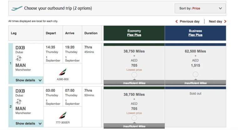 Points Miles Roulette Emirates 2