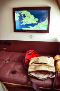 Etihad A380 First Class Apartment: Arrival London