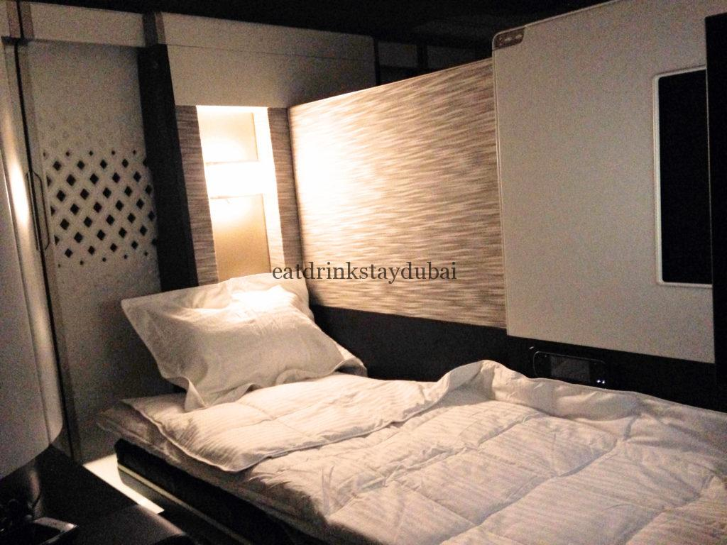 Etihad A380 First Class Apartment: Bed