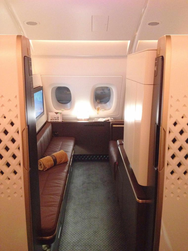 Etihad A380 First Class Apartment: Apartment entrance
