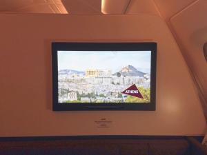 Etihad A380 First Class Apartment: TV