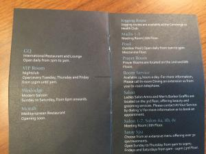 Hotel Review JW Marriott Marquis Dubai: info card 4