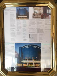Hotel Review Le Meridien Fairway: info board 1
