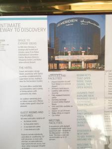 Hotel Review Le Meridien Fairway: info board 2