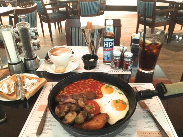 Dubai Marina Yacht Club Breakfast Full English 1