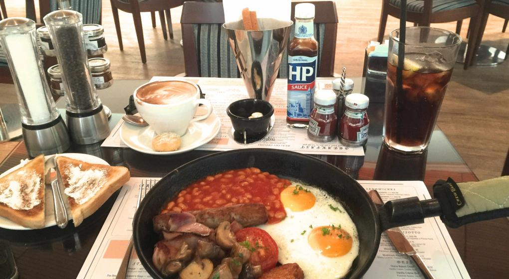 Dubai Marina Yacht Club Breakfast Full English 1