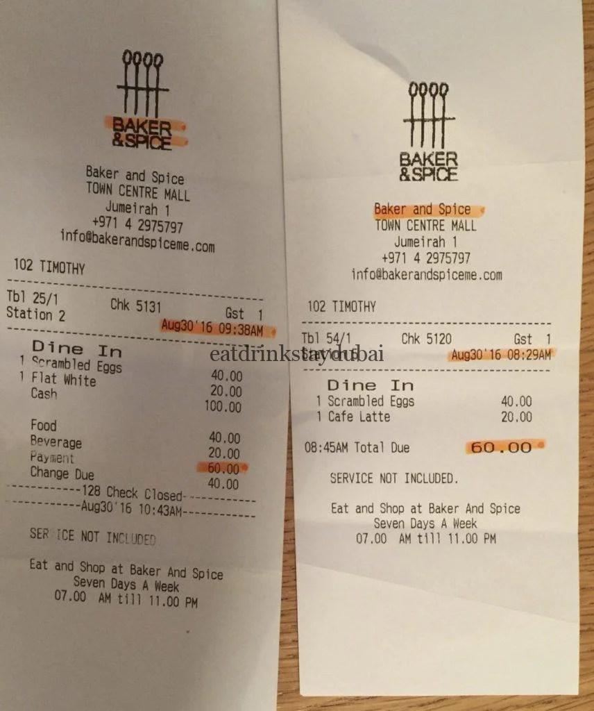 Baker and Spice Dubai_receipt