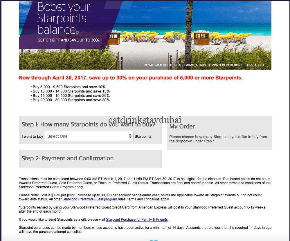 Buy SPG Points 2_discounts
