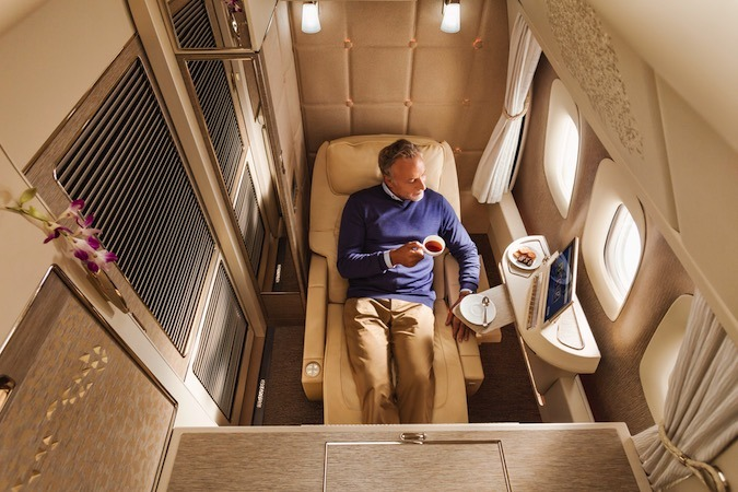 Emirates Airlines First Class: suite