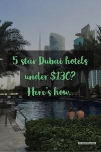 Business Hotels Dubai - 5 star Dubai hotels under $130