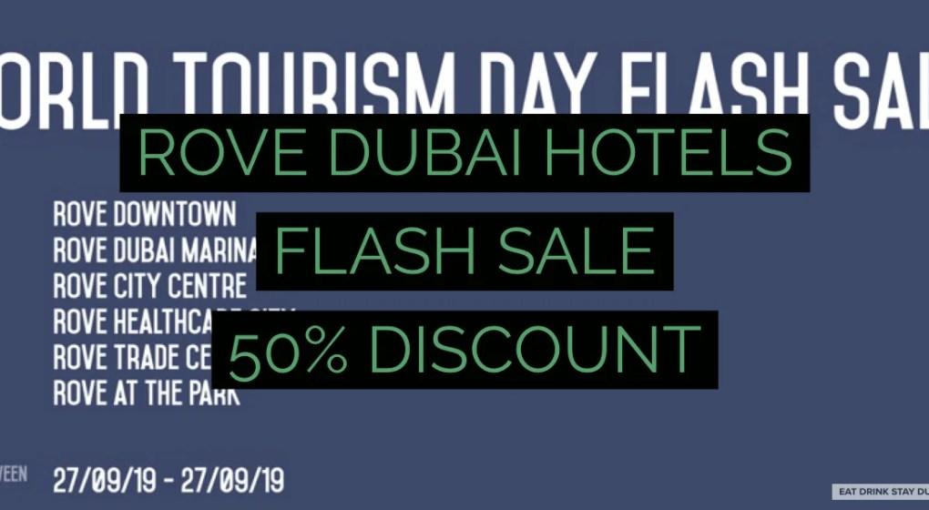 Rove Dubai Hotels Flash Sale (screenshot c/o Rove Hotels)