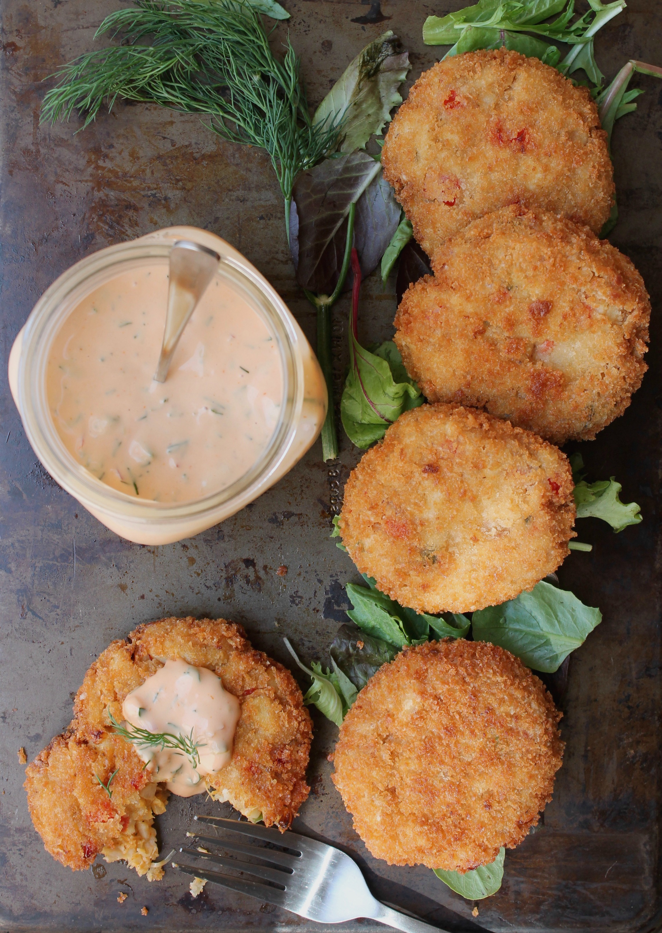 Vegan Crab Cakes Crabless Cakes With Dill Remoulade