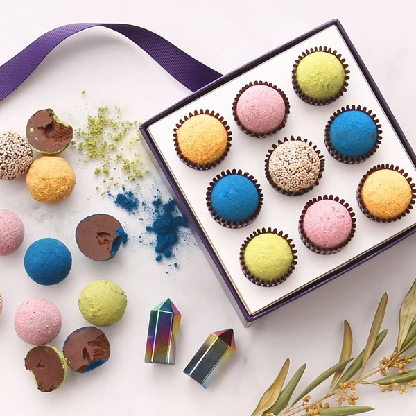 Gift Box of Gourmet Chocolate Truffles from Vosges