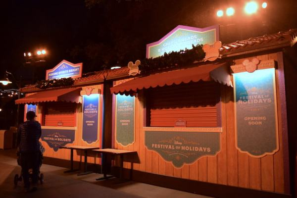 Disney Festival of Holidays Preview Marketplace Kiosk - Making Spirits Bright
