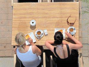 Women eating for nutrition