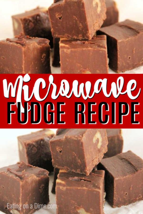 3 minute microwave fudge