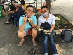Lisa & Hai enjoying their afternoon snack together