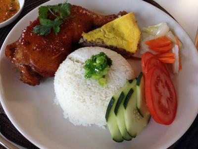 Broken Rice with Honey Chicken
