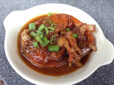 Fish Steak in Spicy Caramelized Sauce