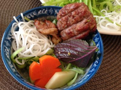 Rice Noodles & BBQ Pork w/ Viet Herbs