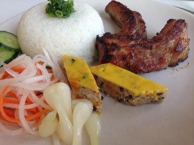 BBQ Pork Ribs, Viet Meatloaf & Pickled Veges