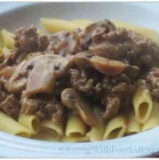 Allergy free recipes eating with food allergies gluten and dairy free turkey stroganoff forumfinder Image collections
