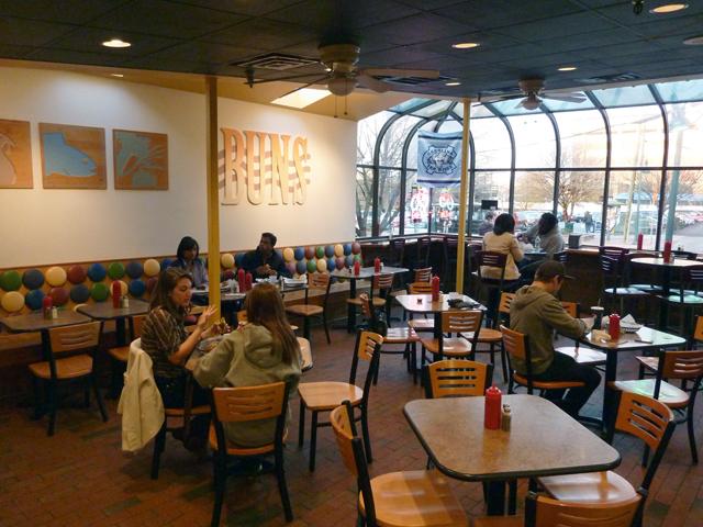 inside Buns in Chapel Hill