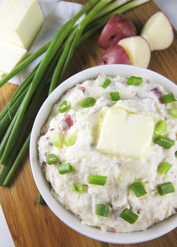 These are the creamiest mashed potatoes, thanks to cream cheese and sour cream which enhance the flavor. This is pure comfort food.