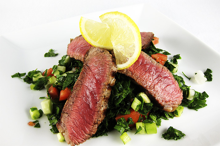 tabour with steak