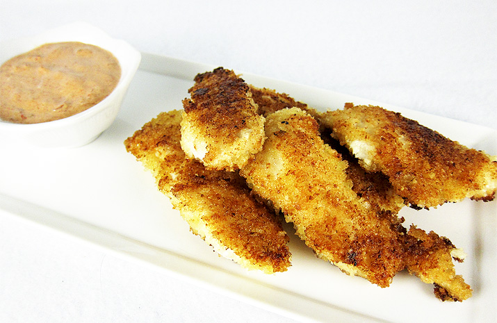 chicken tenders with chipotle sauce