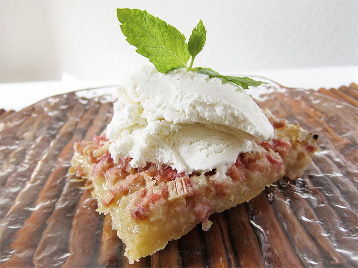 Rhubarb Dream Dessert | www.EatLaughPurr.com