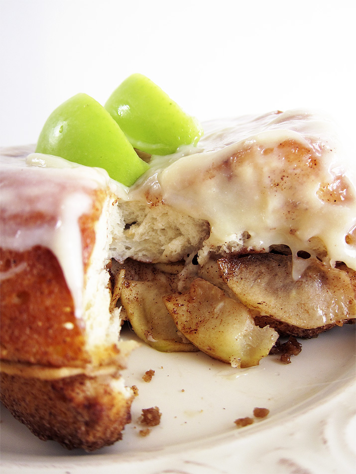 Apple Monkey Bread with Cream Cheese Frosting