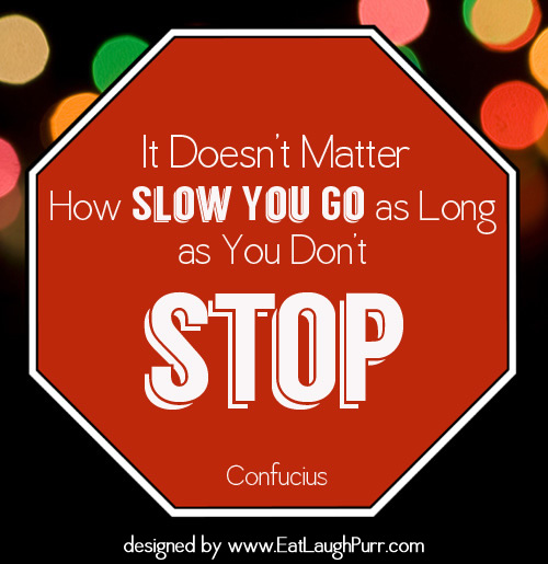 It doesn't matter how slow you go as long as you don't stop. Confucius #quotes #Confucius