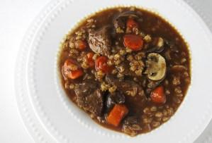 Crockpot Beef Barley Soup | www.EatLaughPurr.com