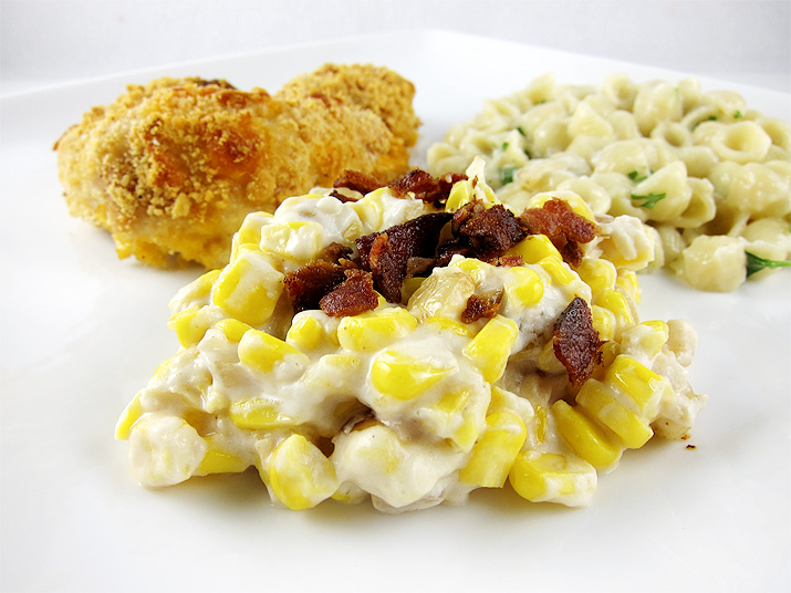 Corn and Bacon Casserole   www.EatLaughPurr.com