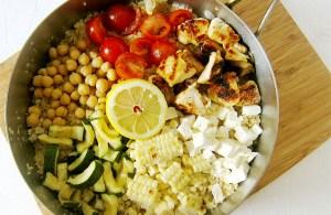 Quinoa with Summer Veggies and Chicken   www.EatLaughPurr.com