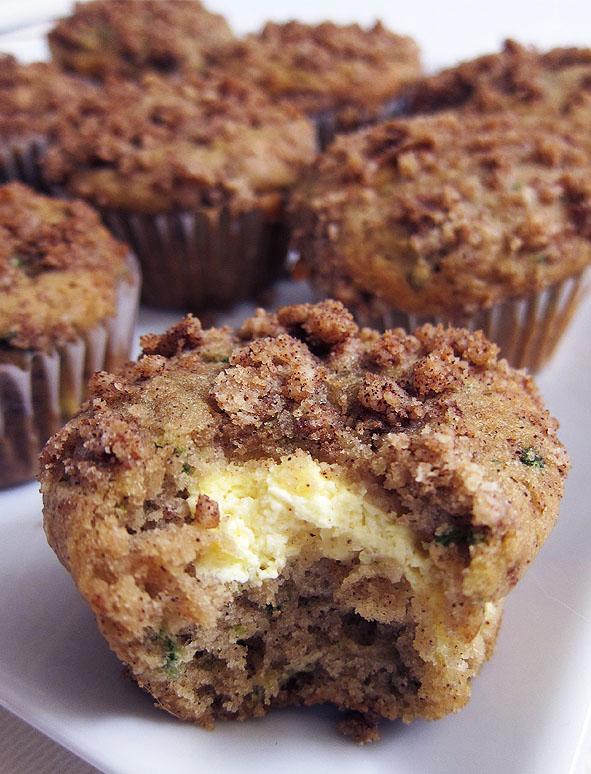 zucchini cheesecake muffins | www.EatLaughPurr.com